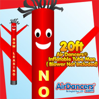 Red Yellow Now Leasing Air Dancers® Inflatable Tube Man 20ft by AirDancers.com
