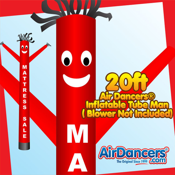 Red Mattress Sale Air Dancers® Inflatable Tube Man 20ft by AirDancers.com