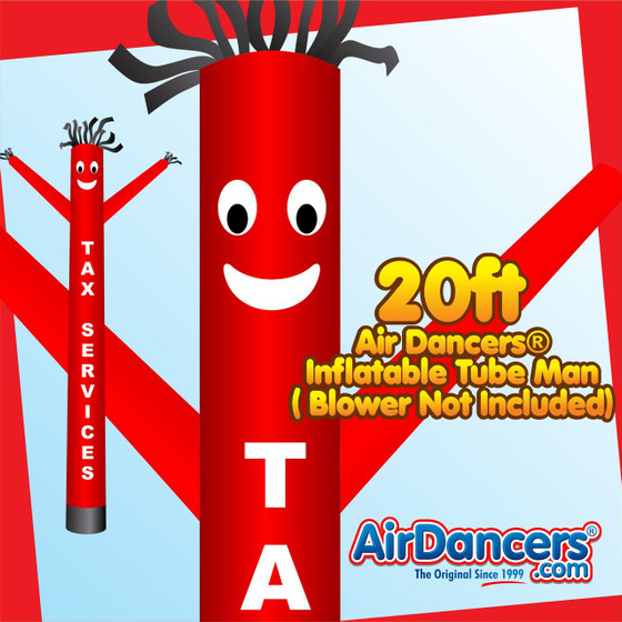 Red Tax Services Air Dancers® Inflatable Tube Man 20ft by AirDancers.com