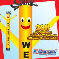 Yellow We Buy Gold Air Dancers® Inflatable Tube Man 20ft by AirDancers.com