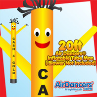 Yellow Cash 4 Gold Air Dancers® Inflatable Tube Man 20ft by AirDancers.com