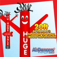 Red Huge Sale Arrow Air Dancers® Inflatable Tube Man 20ft by AirDancers.com