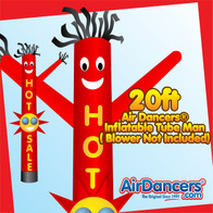 Red Hot Sale Sun Shape Air Dancers® Inflatable Tube Man 20ft by AirDancers.com