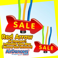 Red Sale Giant Arrow Air Dancers® Inflatable Tube Man 20ft by AirDancers.com