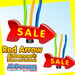 Giant Red Sale Huge Arrow Air Dancers® inflatable tube man by AirDancers.com