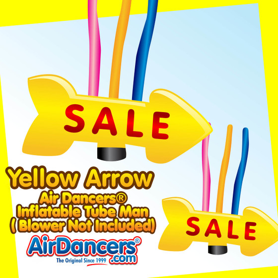 Yellow Sale Giant Arrow Air Dancers® Inflatable Tube Man 20ft