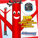 Red Air Dancers® inflatable tube man and Blower complete combo set by AirDancers.com