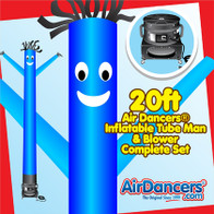 Blue Air Dancers® inflatable tube man & Blower Set 20ft