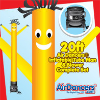Yellow Air Dancers® inflatable tube man & Blower Set 20ft