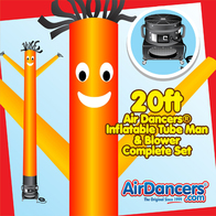 Orange Air Dancers® inflatable tube man & Blower Set 20ft