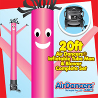 Pink Air Dancers® inflatable tube man & Blower Set 20ft