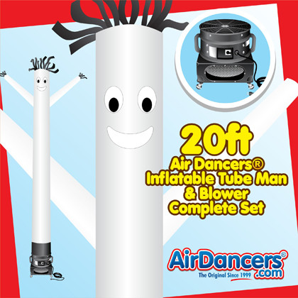 White Air Dancers® inflatable tube man & Blower Set 20ft