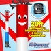 Red White Blue Air Dancers® inflatable tube man & Blower Set 20ft