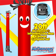 Red Yellow Air Dancers® inflatable tube man & Blower Set 20ft