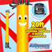 Yellow Red Air Dancers® inflatable tube man & Blower Set 20ft