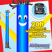 Blue Yellow Air Dancers® inflatable tube man & Blower Set 20ft