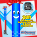 American Flag Air Dancers® inflatable tube man & Blower Set 20ft