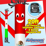 Mexico Flag Air Dancers® inflatable tube man & Blower Set 20ft