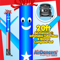 Puerto Rico Flag Air Dancers® inflatable tube man & Blower Set 20ft
