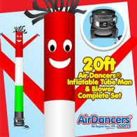 Italian Flag Air Dancers® inflatable tube man & Blower Set 20ft