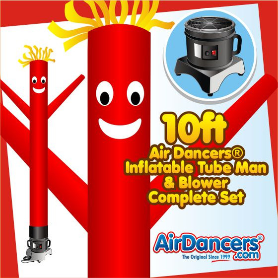 Red Air Dancers® Inflatable Tube Man & Blower 10ft Set by AirDancers.com