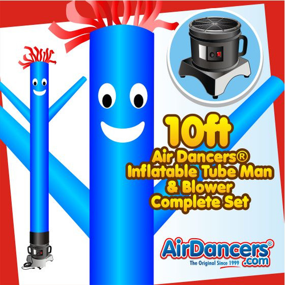 Blue Air Dancers® Inflatable Tube Man & Blower 10ft Set by AirDancers.com