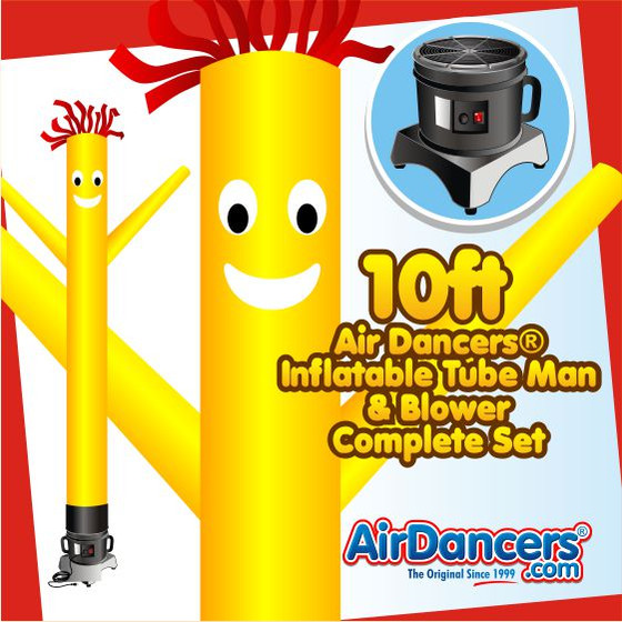 Yellow Air Dancers® Inflatable Tube Man & Blower 10ft Set by AirDancers.com