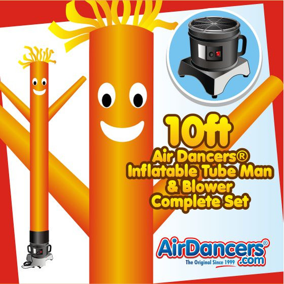 Orange Air Dancers® Inflatable Tube Man & Blower 10ft Set by AirDancers.com