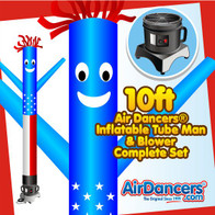 American Flag Air Dancers® Inflatable Tube Man & Blower 10ft Set by AirDancers.com