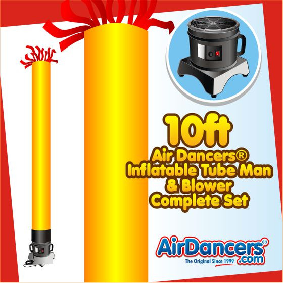 Yellow Tube Air Dancers® Inflatable Tube Man & Blower 10ft Set by AirDancers.com