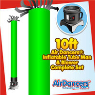 Green Tube Air Dancers® Inflatable Tube Man & Blower 10ft Set by AirDancers.com