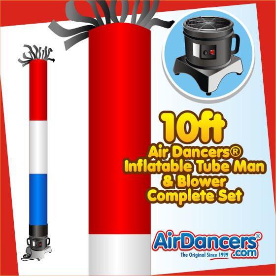 RWB Tube Air Dancers® Inflatable Tube Man & Blower 10ft Set