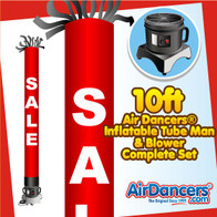 Red SALE Tube Air Dancers® Inflatable Tube Man & Blower 10ft Set by AirDancers.com