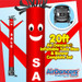 Red Sale Air Dancers® inflatable tube man & Blower Set 20ft