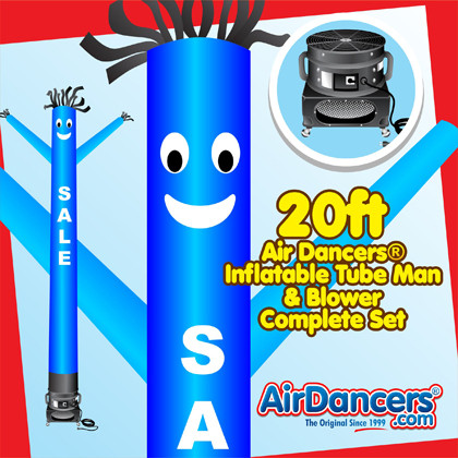 Blue Sale Air Dancers® inflatable tube man & Blower Set 20ft