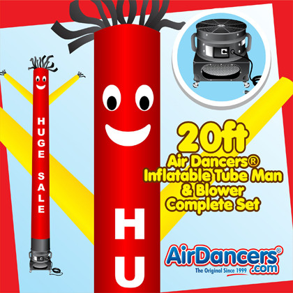 Red Yellow Huge Sale Air Dancers® inflatable tube man & Blower Set 20ft
