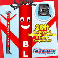 Red Blowout Sale Air Dancers® inflatable tube man & Blower Set 20ft