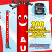 Red White Auto Sale Air Dancers® inflatable tube man & Blower Set 20ft