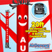 Red Auto Repair Air Dancers® inflatable tube man & Blower Set 20ft