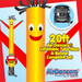 Yellow Red Car Shape Air Dancers® inflatable tube man & Blower Set 20ft