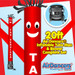 Red Tax Services Air Dancers® inflatable tube man & Blower Set 20ft