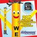 Yellow We Buy Gold Air Dancers® inflatable tube man & Blower Set 20ft