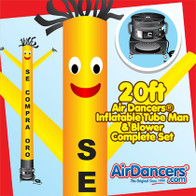 Yellow Se Compra Oro Air Dancers® inflatable tube man & Blower Set 20ft
