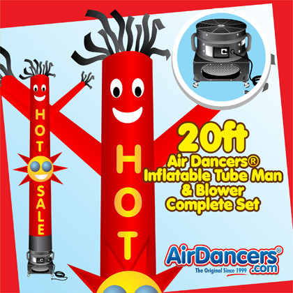 Red Hot Sale Sun Shape Air Dancers® inflatable tube man & Blower Set 20ft