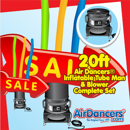 Red Sale Arrow Air Dancers® inflatable tube man & Blower Set 20ft