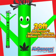 Green Marijuana Air Dancers® Inflatable Tube Man 20ft by AirDancers.com