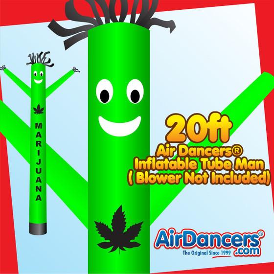 Green Marijuana Air Dancers® Inflatable Tube Man 20ft by AirDancers.com