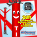 Red Tire Sale Air Dancers® inflatable tube man & Blower Set 20ft