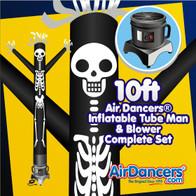 Halloween Skeleton Air Dancers® Inflatable Tube Man & Blower 10ft Set