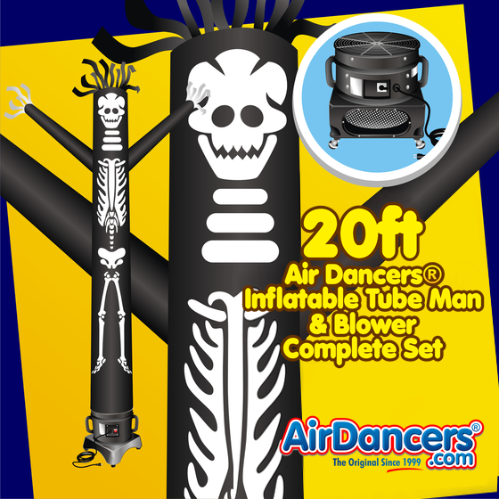 Halloween Skeleton Air Dancers® Inflatable Tube Man & Blower Set